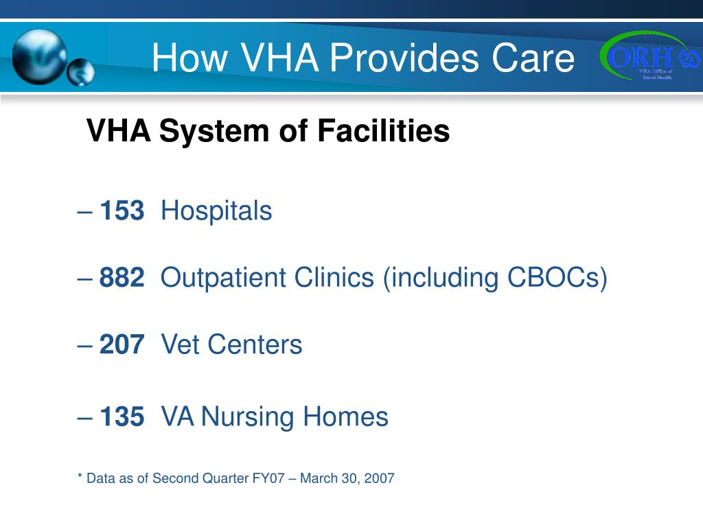 How VHA Provides Care
