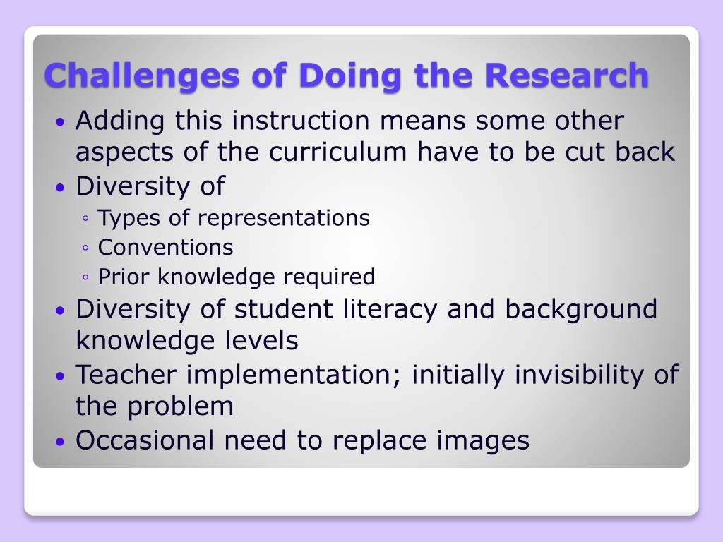 Challenges of Doing the Research