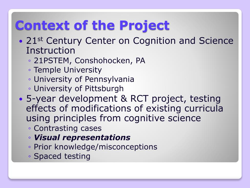 Context of the Project
