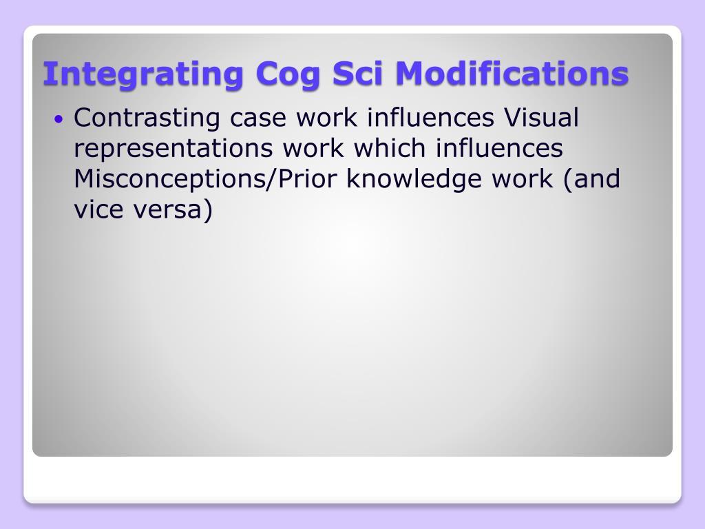 Integrating Cog