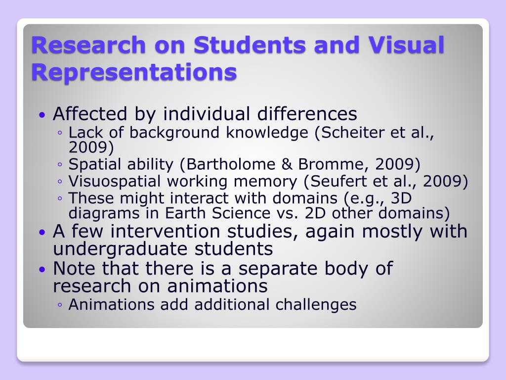 Research on Students and Visual Representations