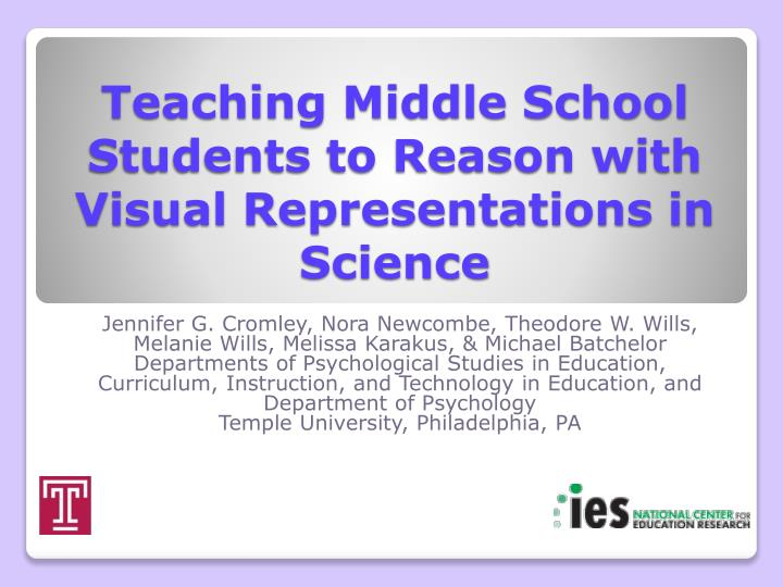 Teaching middle school students to reason with visual representations in science