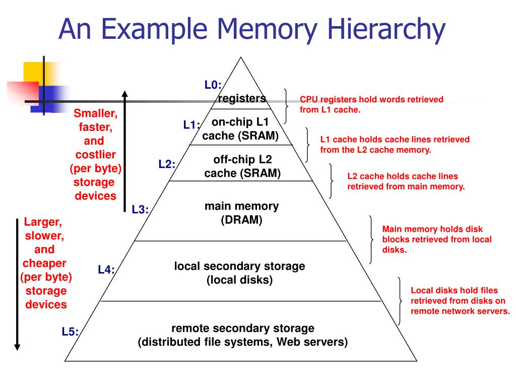 L1 cache holds cache lines retrieved from the L2 cache memory.