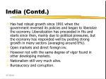 india contd