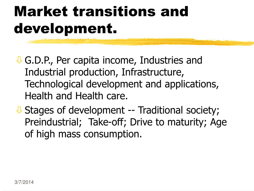market transitions and development l.