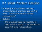 3 1 initial problem solution