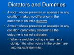 dictators and dummies
