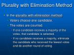 plurality with elimination method