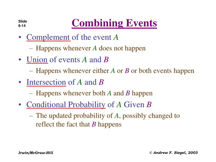 Combining Events