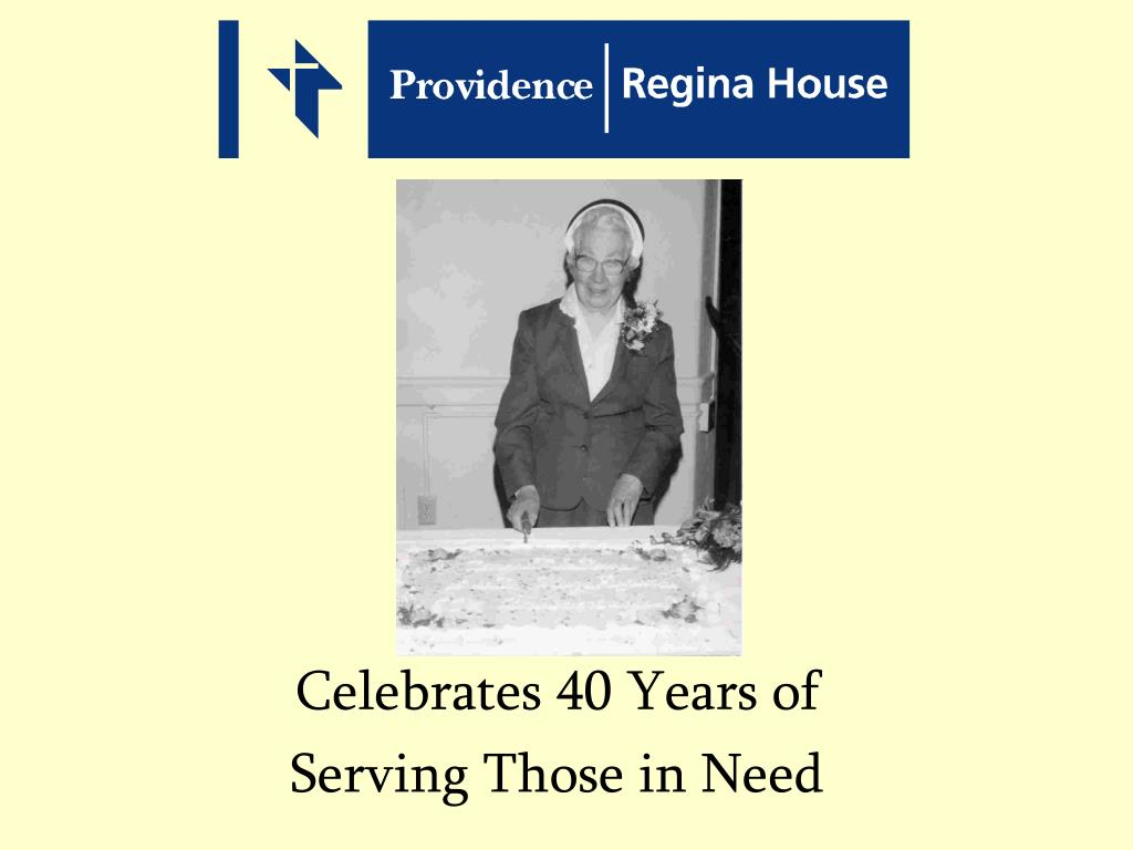 celebrates 40 years of serving those in need l.