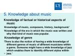 5 knowledge about music