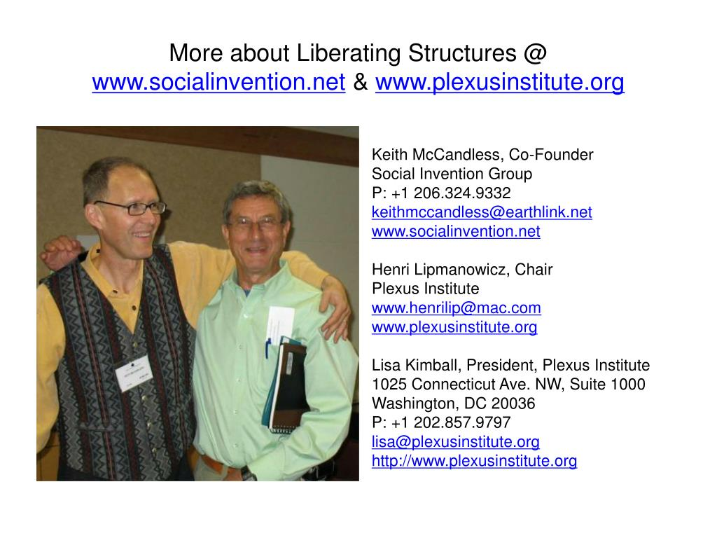 More about Liberating Structures @
