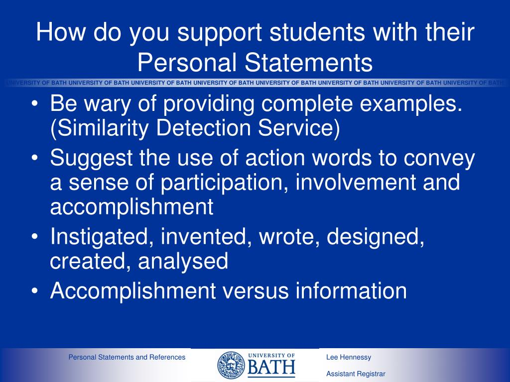 How do you support students with their Personal Statements