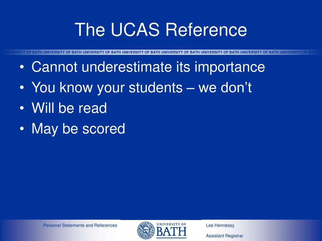 The UCAS Reference