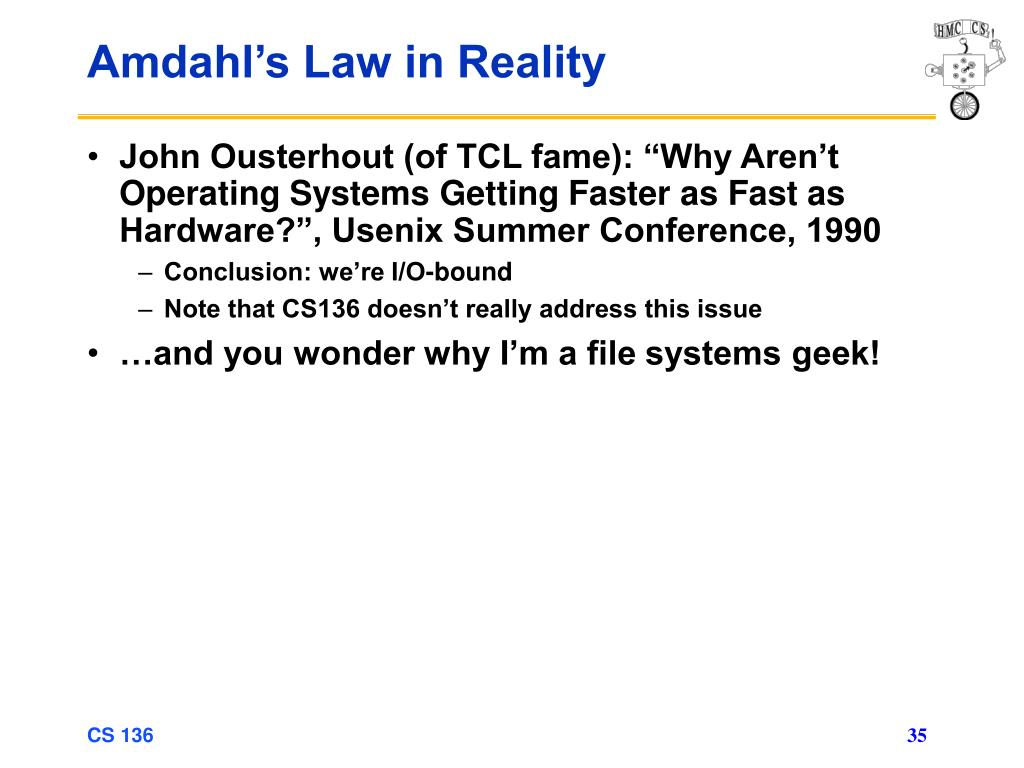 Amdahl's Law in Reality