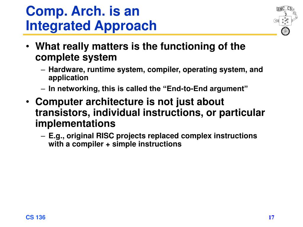 Comp. Arch. is an