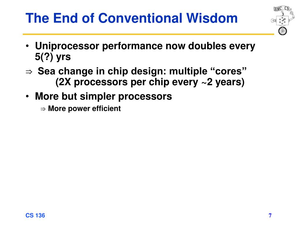 The End of Conventional Wisdom