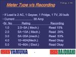 meter type v s recording