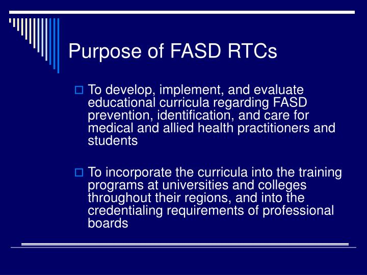 Purpose of fasd rtcs