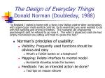 the design of everyday things donald norman doubleday 1988