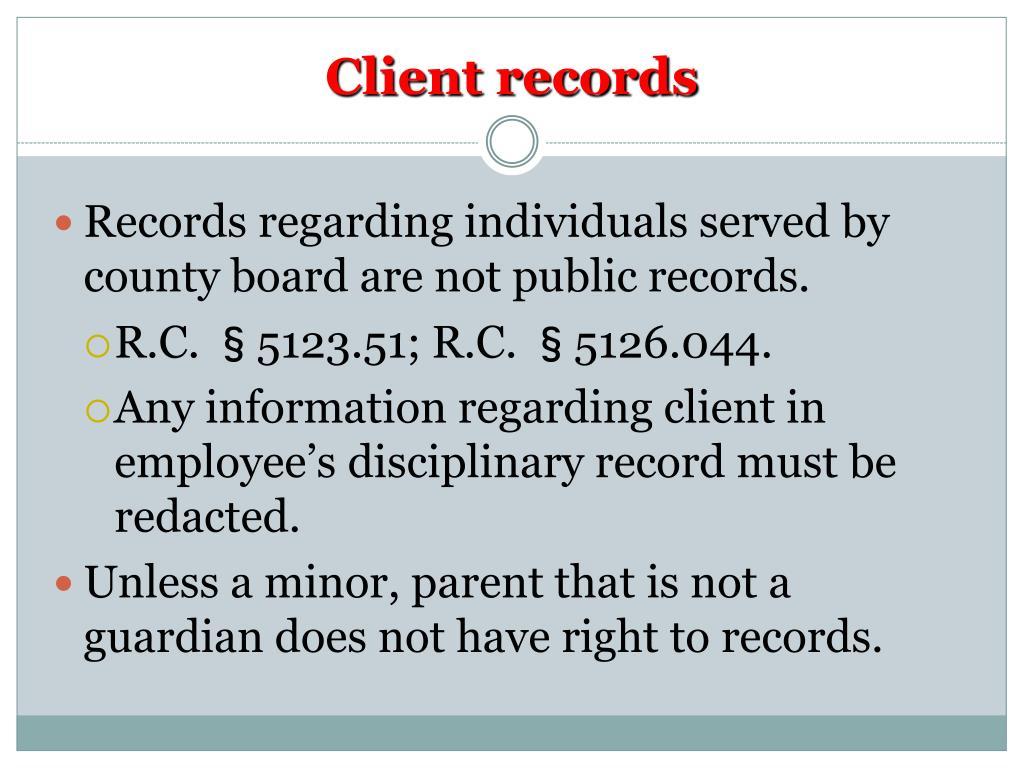 Client records