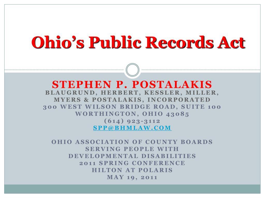 Ohio's Public Records Act