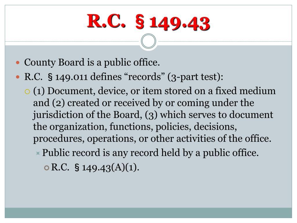 R.C. §149.43