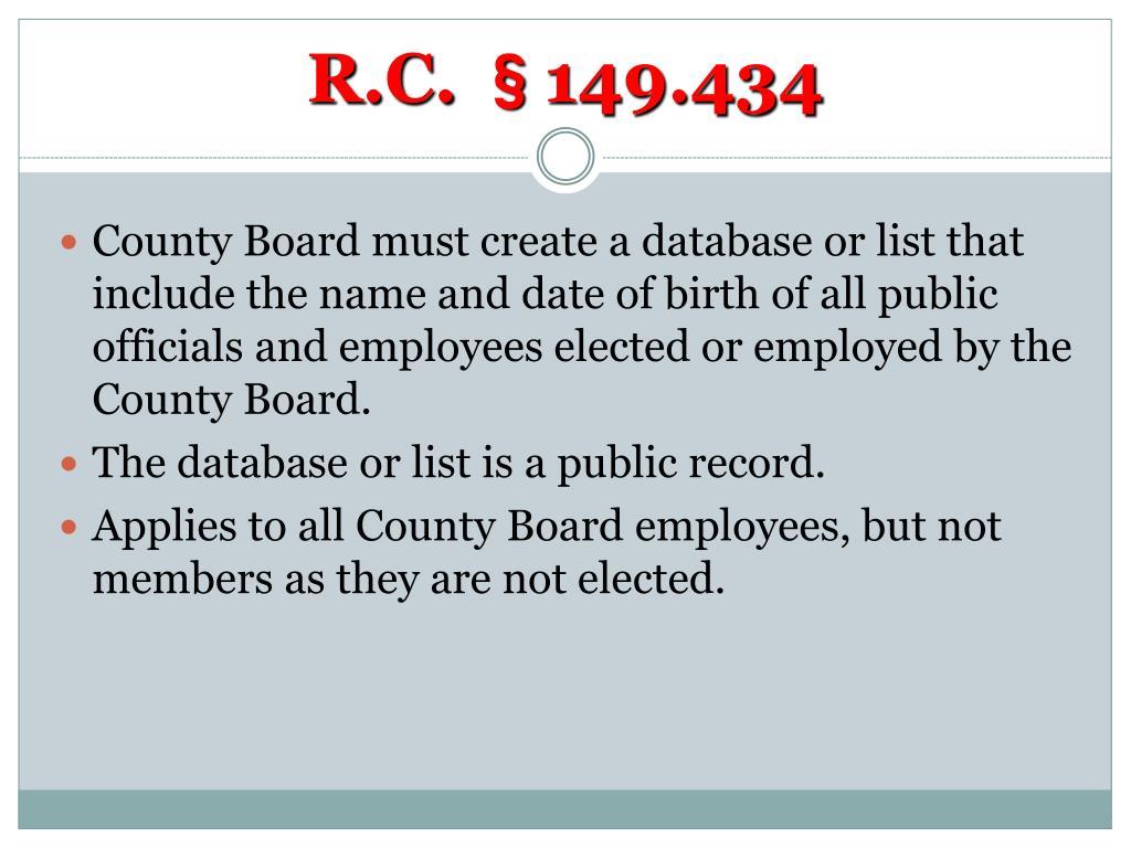 R.C. §149.434