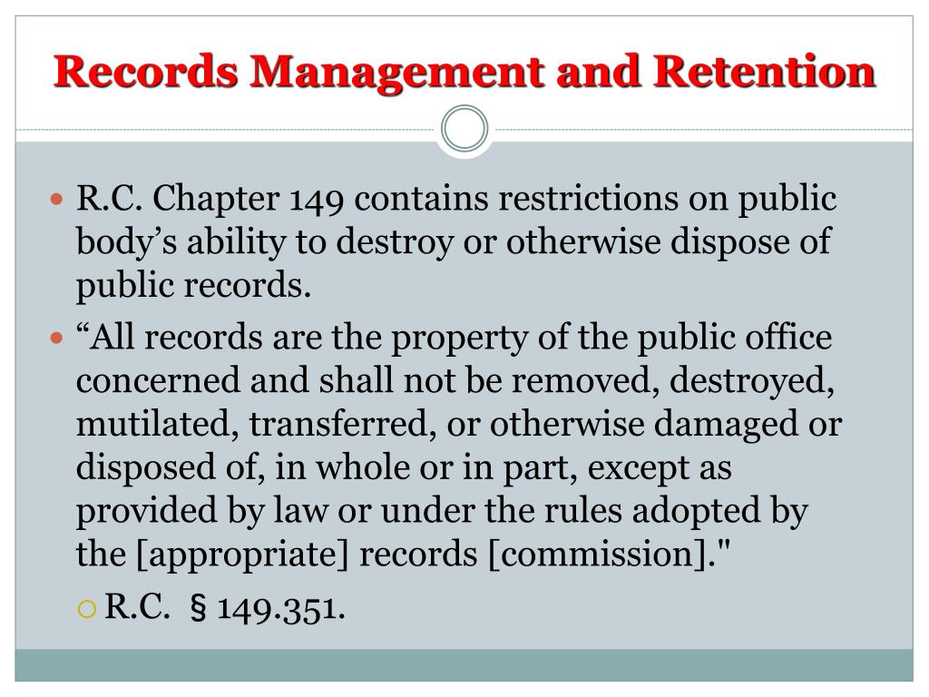 Records Management and Retention