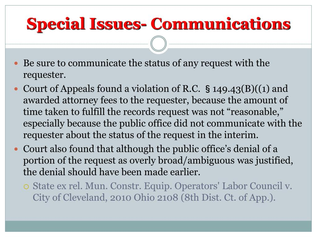 Special Issues- Communications