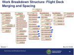 work breakdown structure flight deck merging and spacing
