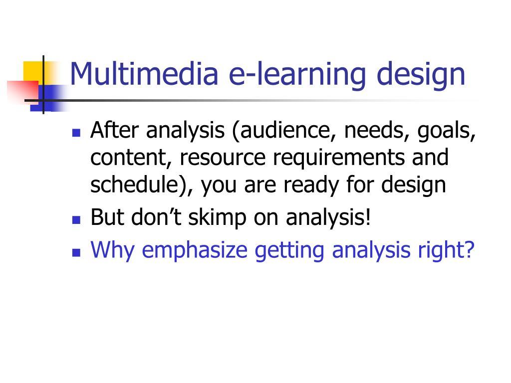 multimedia e learning design l.