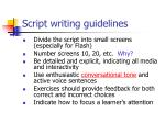 script writing guidelines