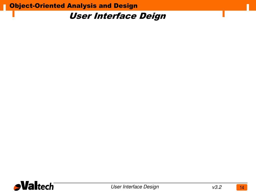 User Interface Deign
