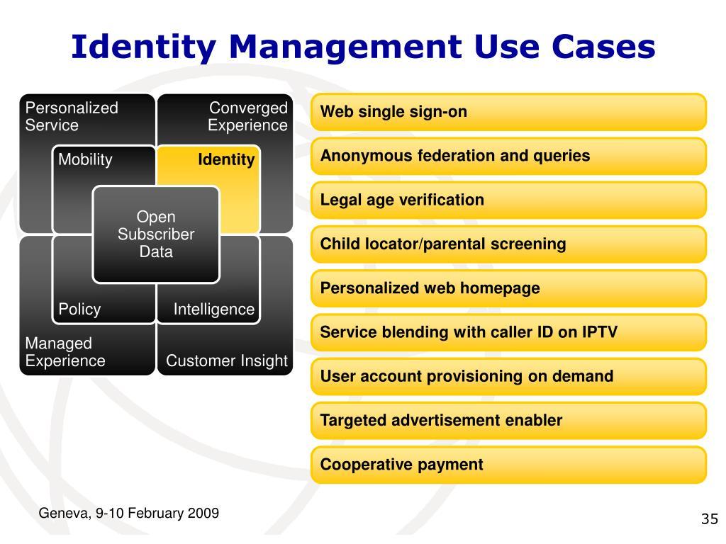Identity Management Use Cases