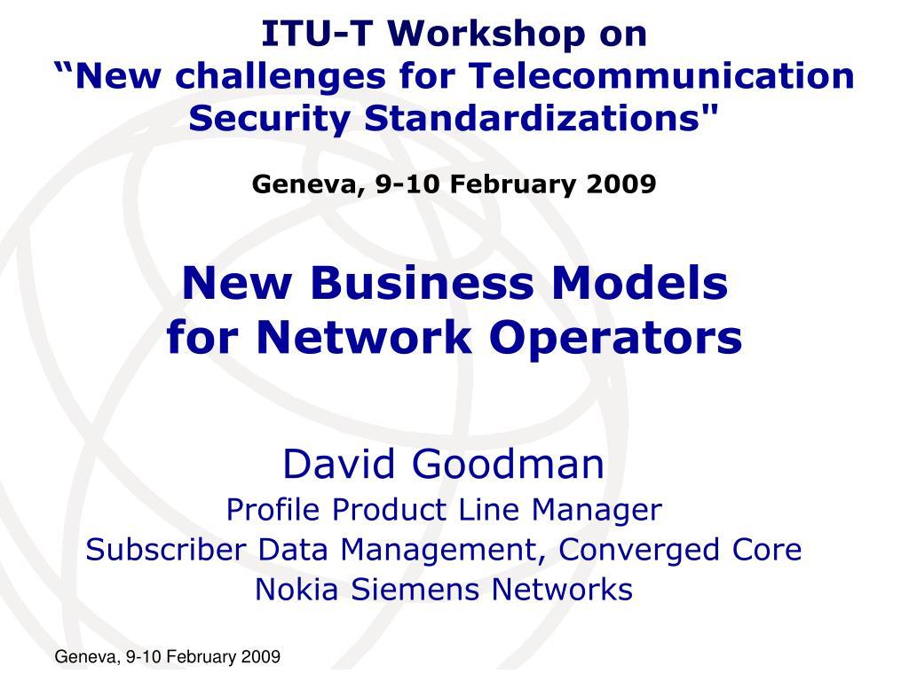 ITU-T Workshop on