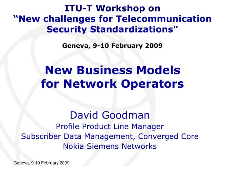 New business models for network operators