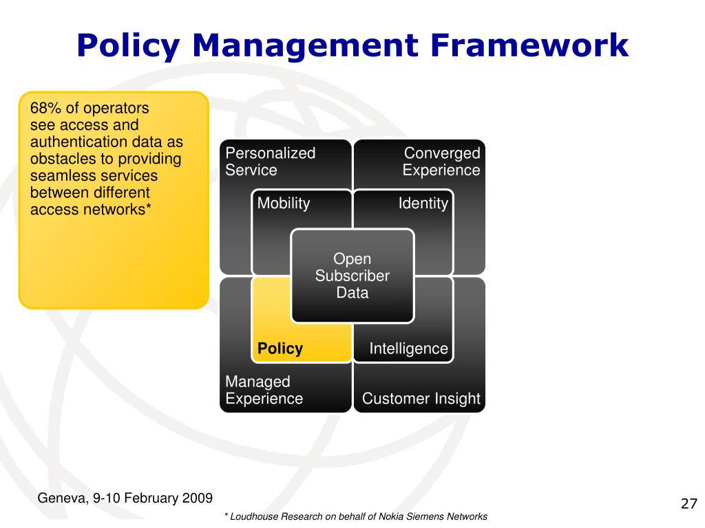 Policy Management Framework