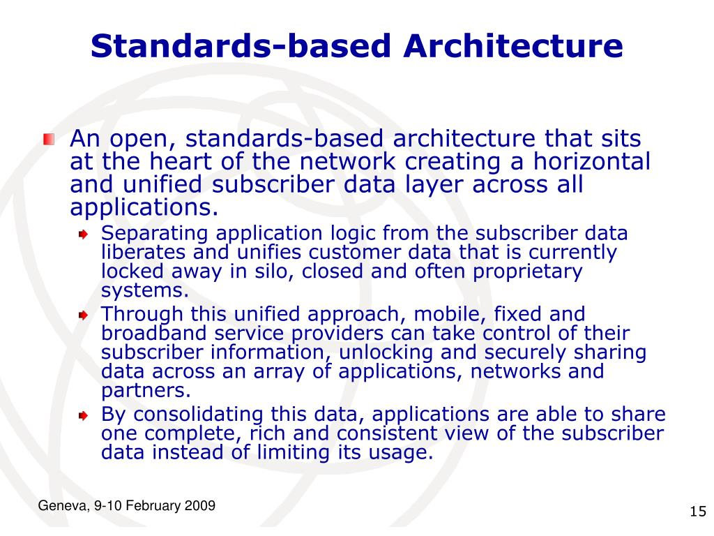 Standards-based Architecture