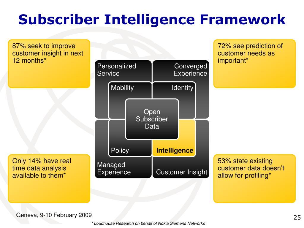 Subscriber Intelligence Framework