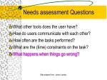 needs assessment questions12