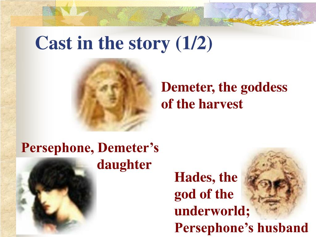 Cast in the story (1/2)