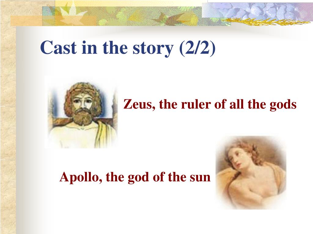 Cast in the story (2/2)