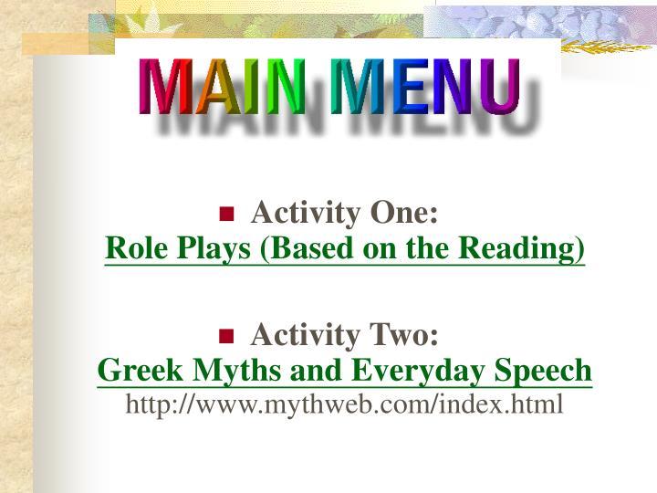 Activity One: