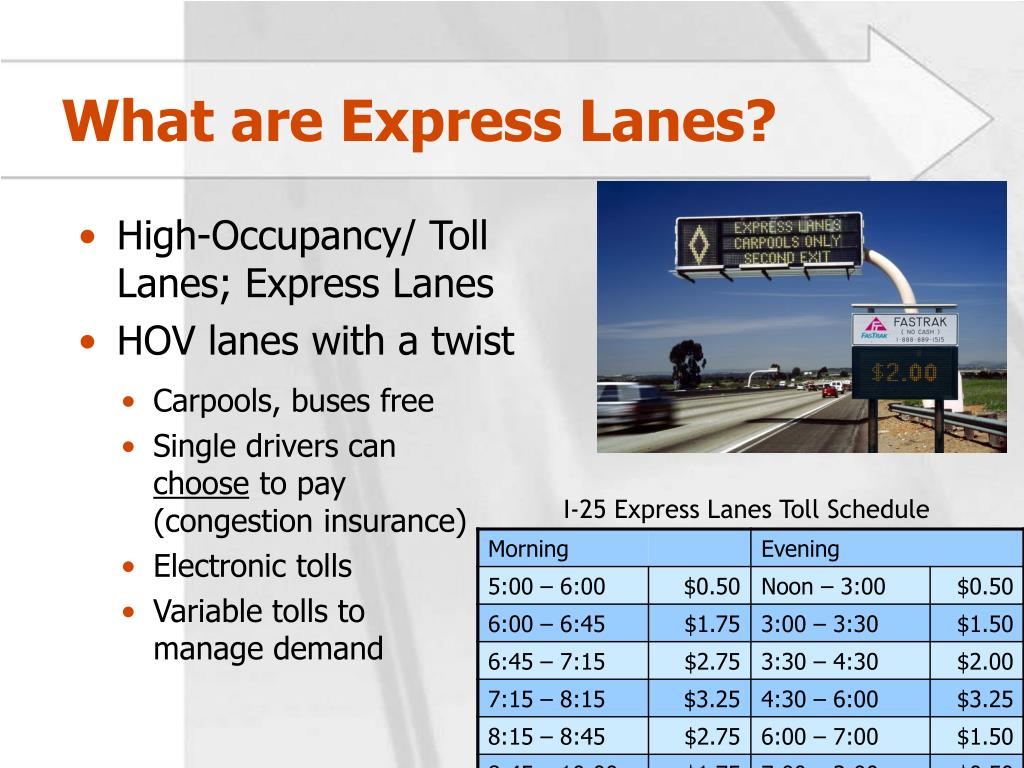 What are Express Lanes?