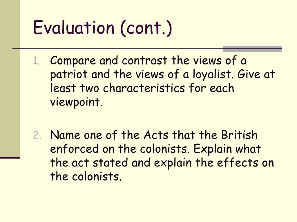 Evaluation (cont.)