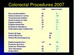 colorectal procedures 2007