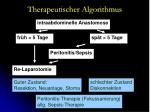 therapeutischer algorithmus51