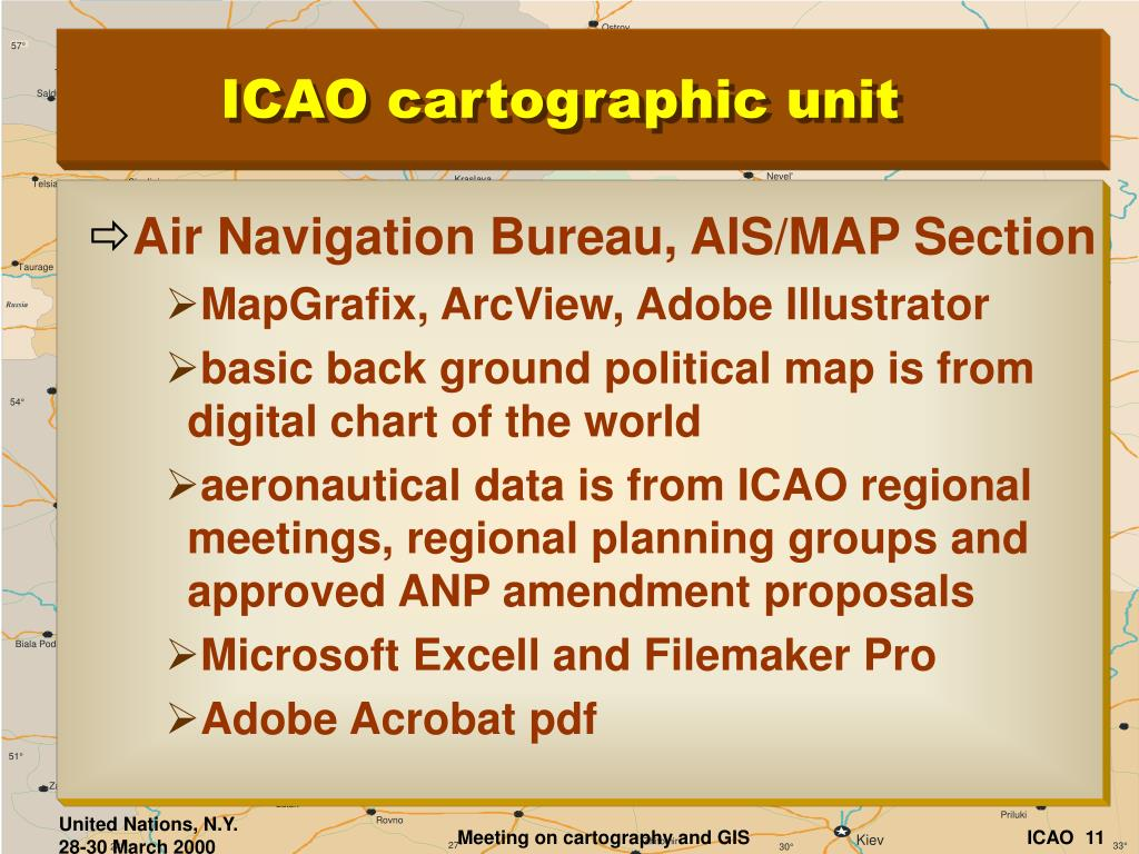 PPT - Cartography at the International Civil Aviation