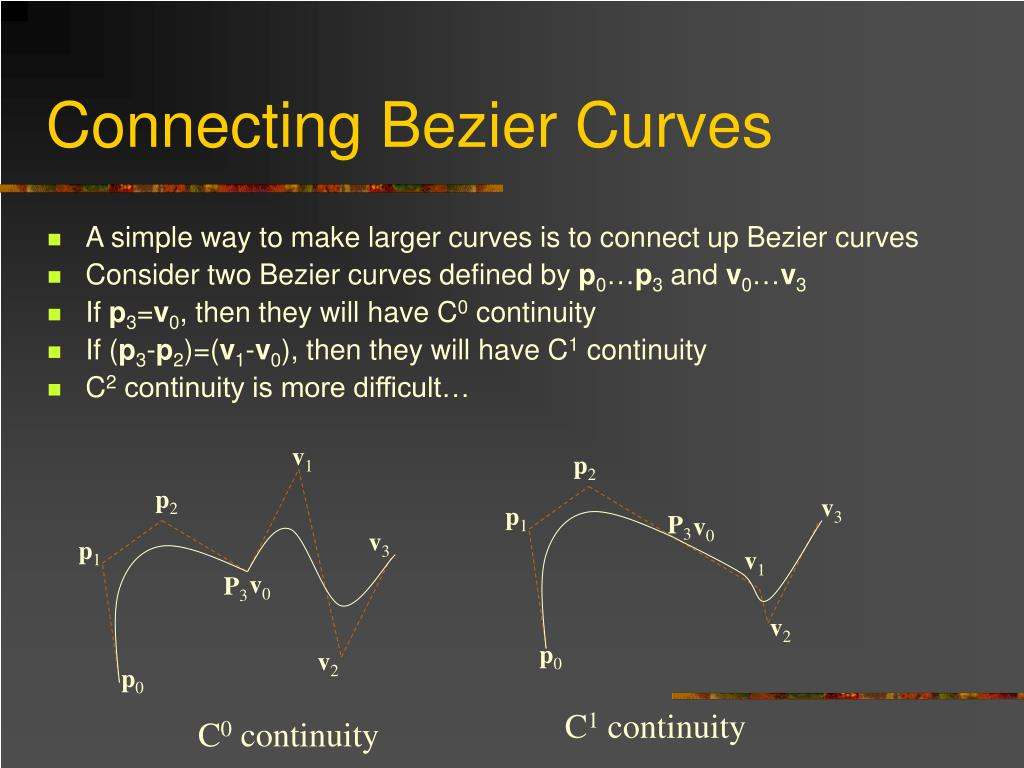 Connecting Bezier Curves
